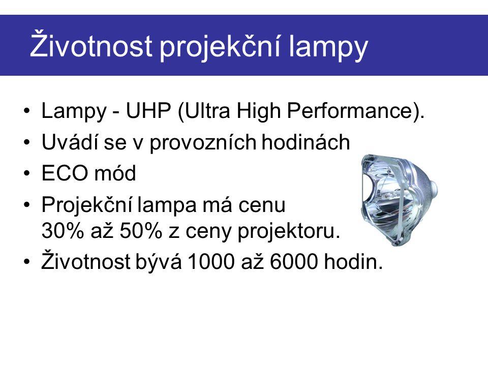 Životnost projekční lampy
