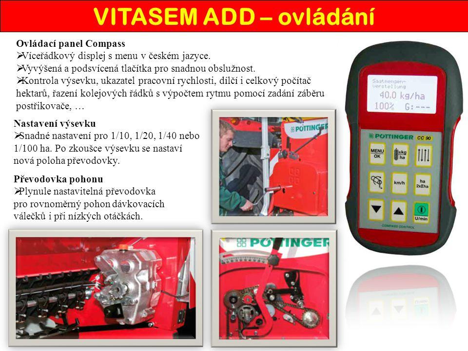 VITASEM ADD – ovládání Ovládací panel Compass