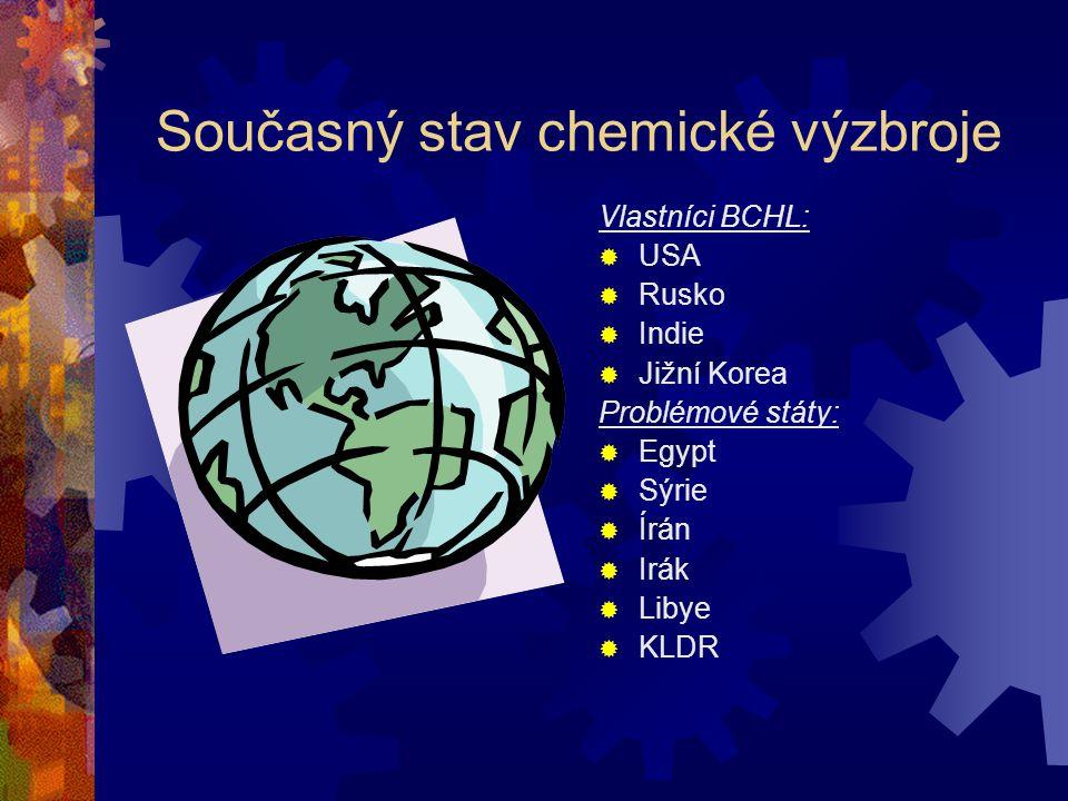 Současný stav chemické výzbroje