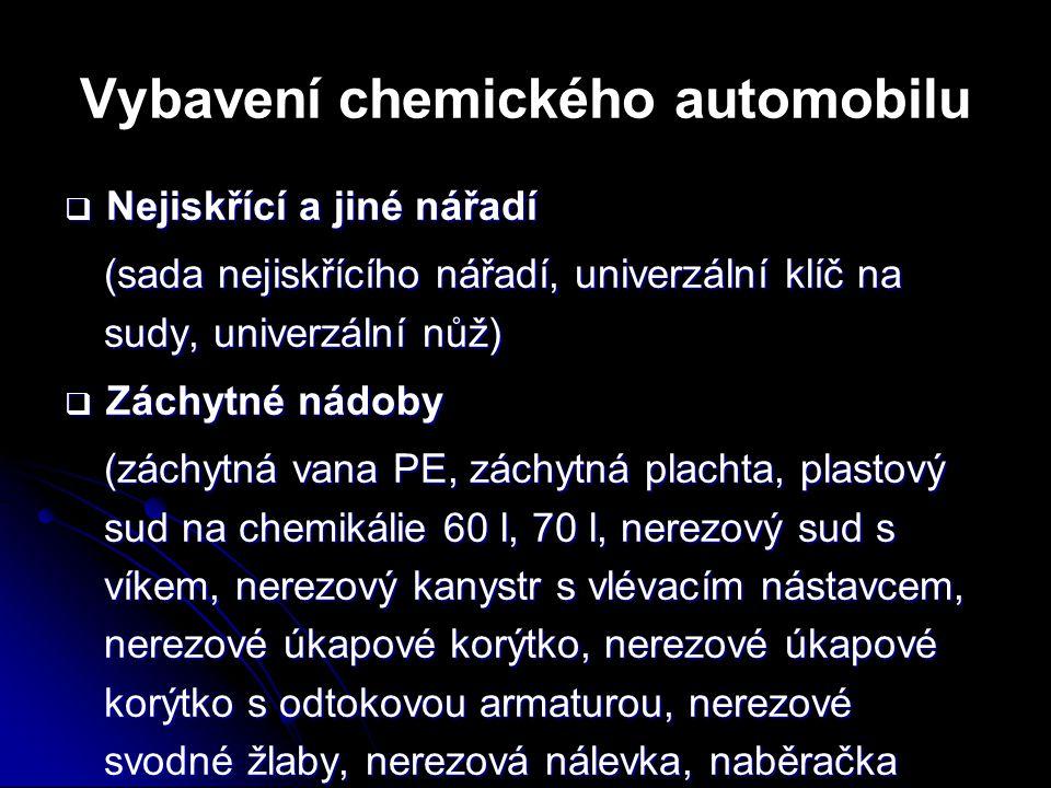 Vybavení chemického automobilu