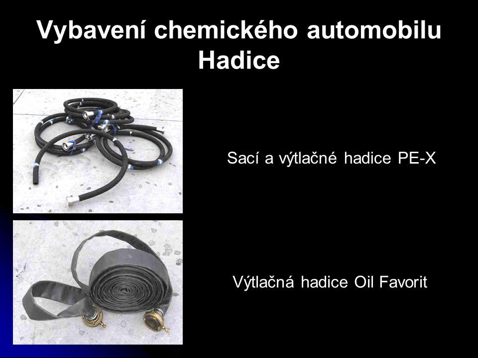 Vybavení chemického automobilu Hadice
