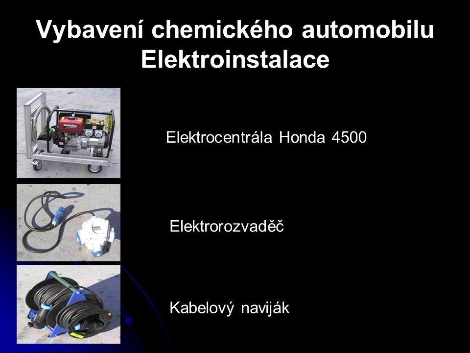Vybavení chemického automobilu Elektroinstalace