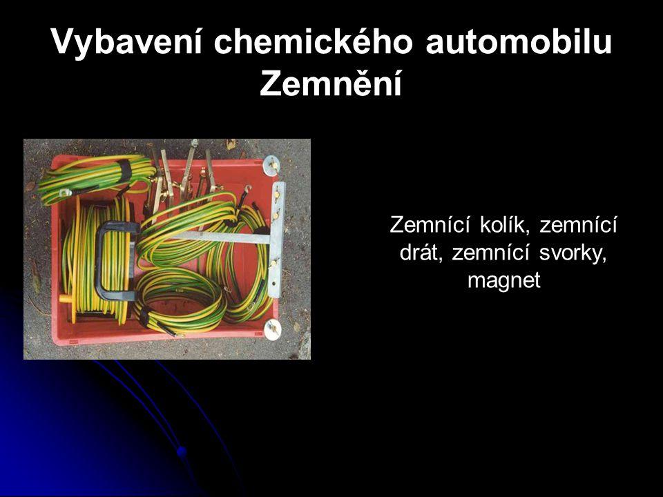 Vybavení chemického automobilu Zemnění