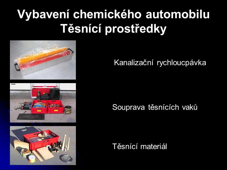 Vybavení chemického automobilu Těsnící prostředky