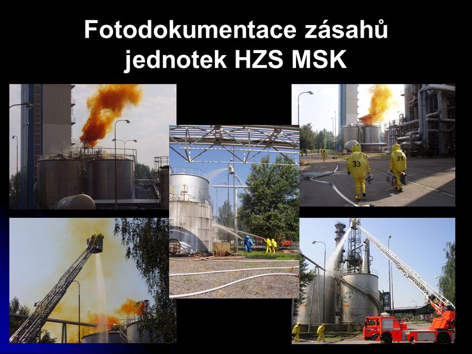 Fotodokumentace zásahů jednotek HZS MSK