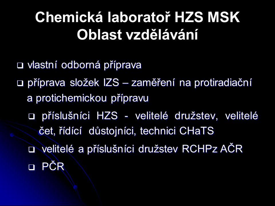 Chemická laboratoř HZS MSK Oblast vzdělávání