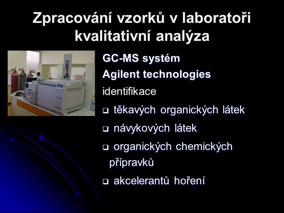 Zpracování vzorků v laboratoři kvalitativní analýza