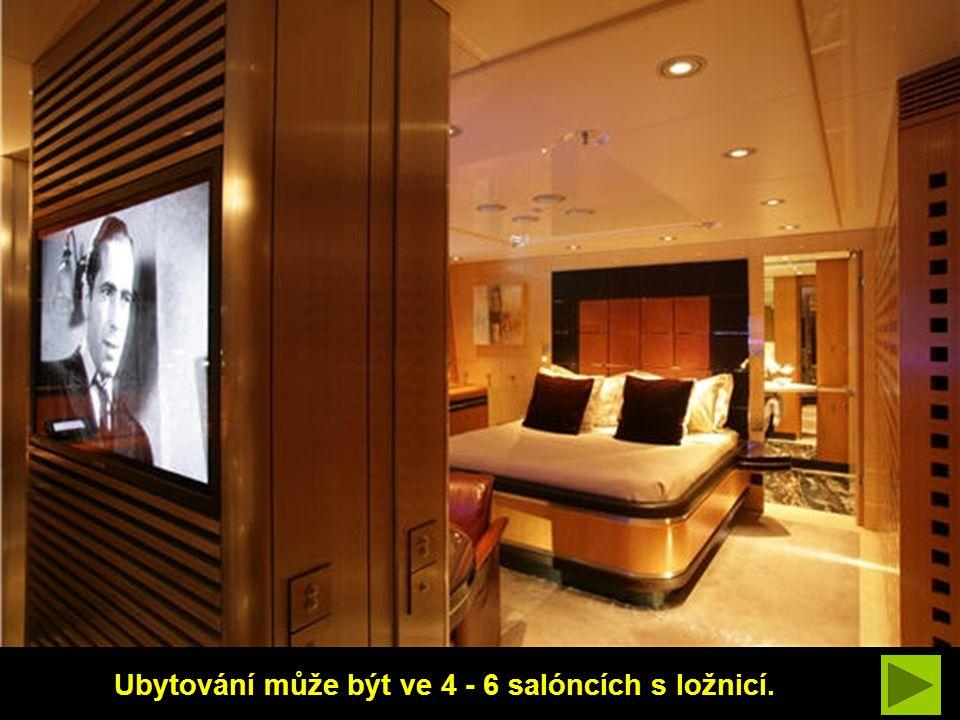 Ubytování může být ve 4 - 6 salóncích s ložnicí.