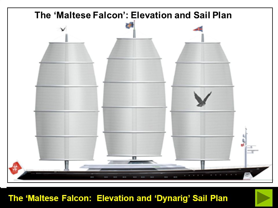 The 'Maltese Falcon': Elevation and Sail Plan