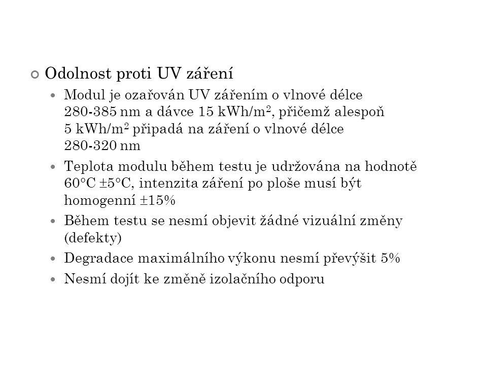 Odolnost proti UV záření