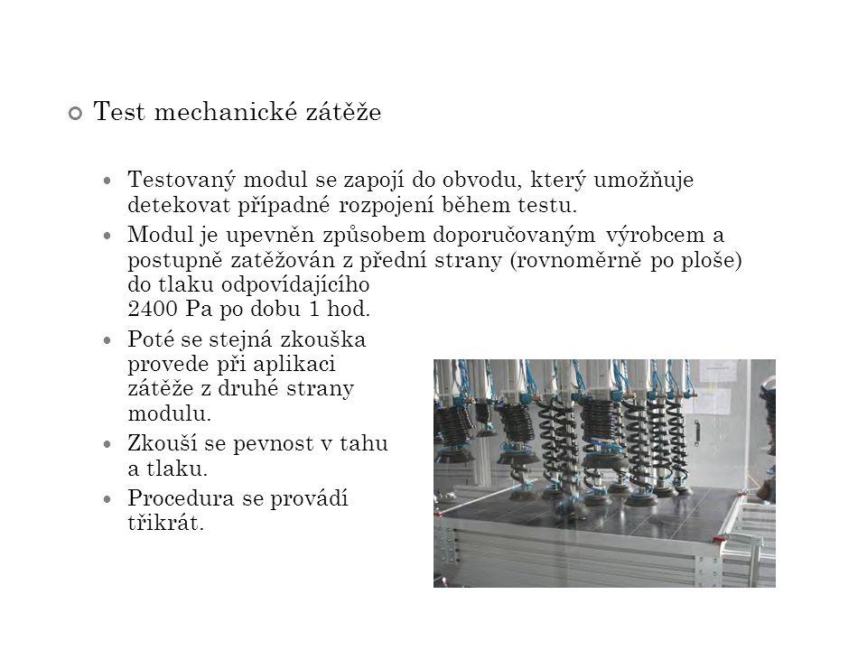 Test mechanické zátěže