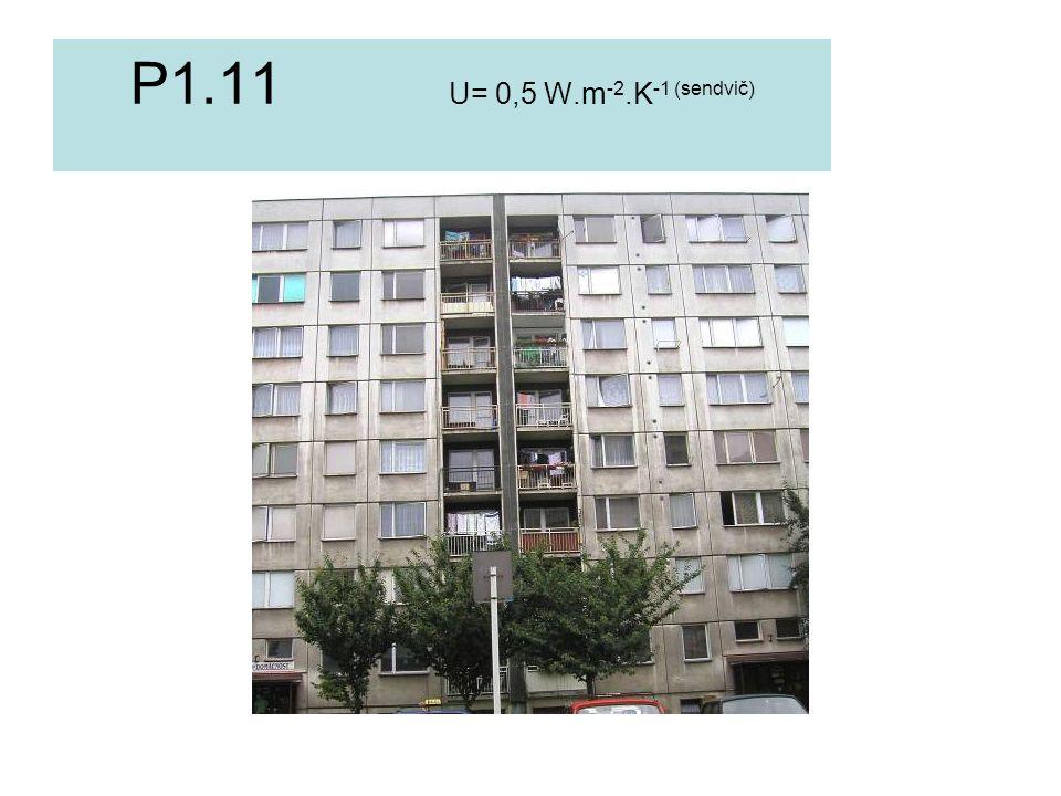 P1.11 U= 0,5 W.m-2.K-1 (sendvič)