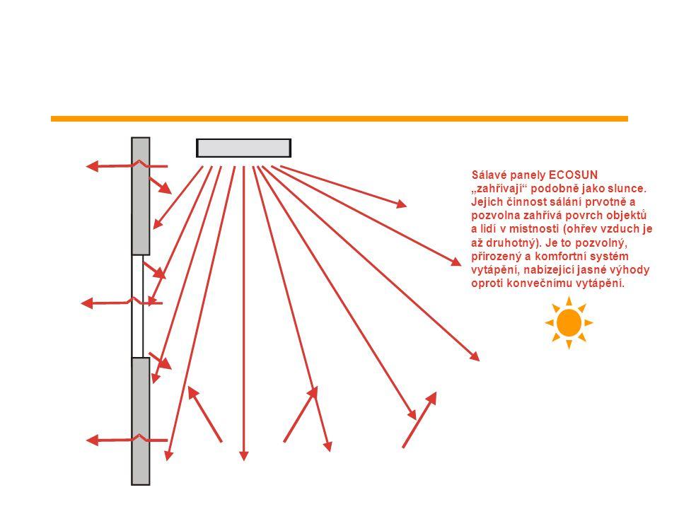 """Sálavé panely ECOSUN """"zahřívají podobně jako slunce"""