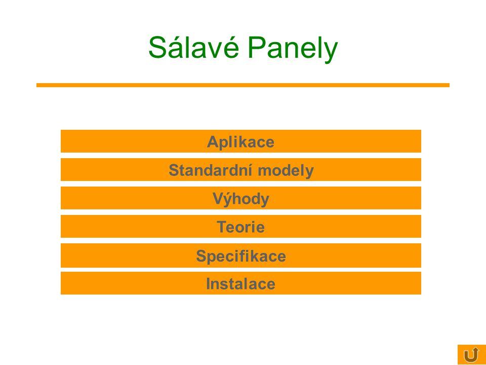 Sálavé Panely Aplikace Standardní modely Výhody Teorie Specifikace