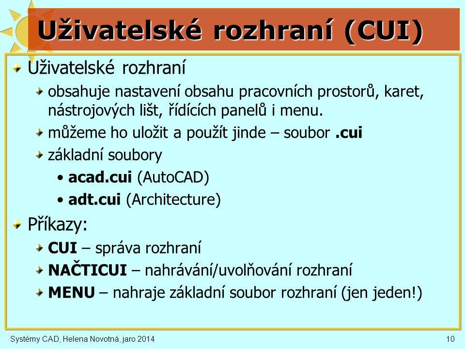 Uživatelské rozhraní (CUI)