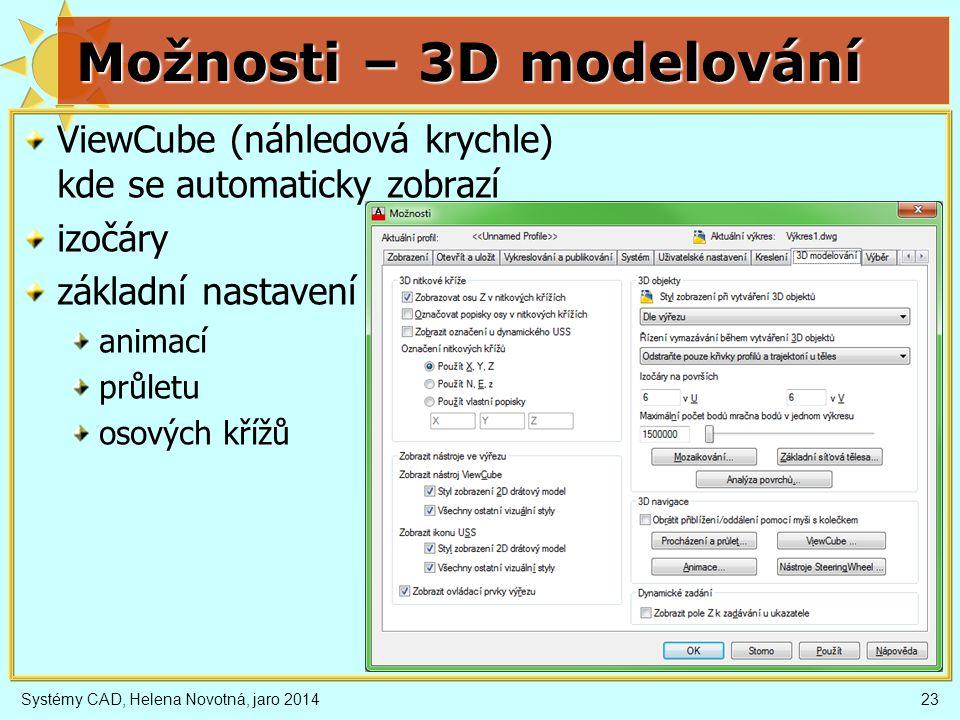 Možnosti – 3D modelování