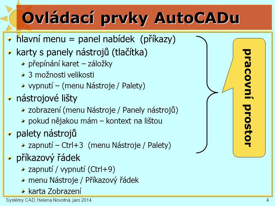 Ovládací prvky AutoCADu