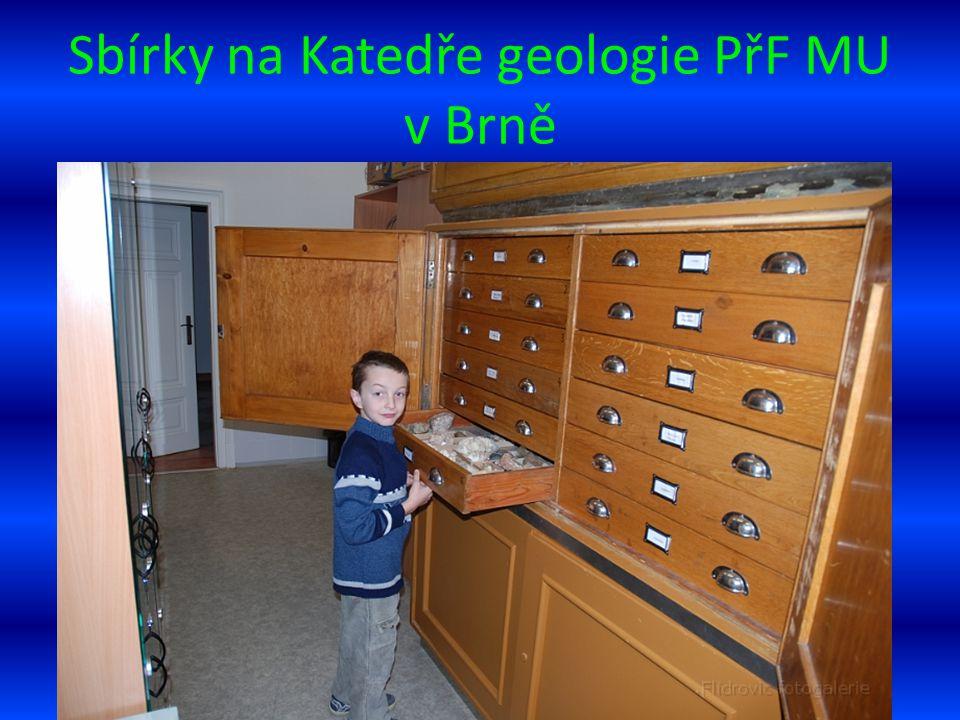 Sbírky na Katedře geologie PřF MU v Brně