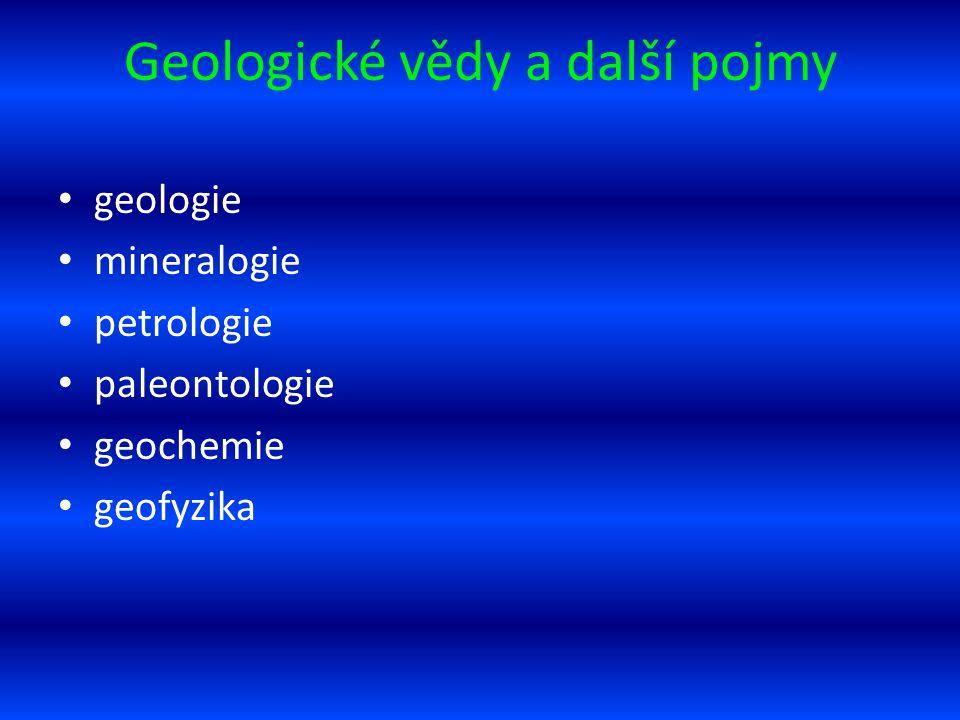 Geologické vědy a další pojmy