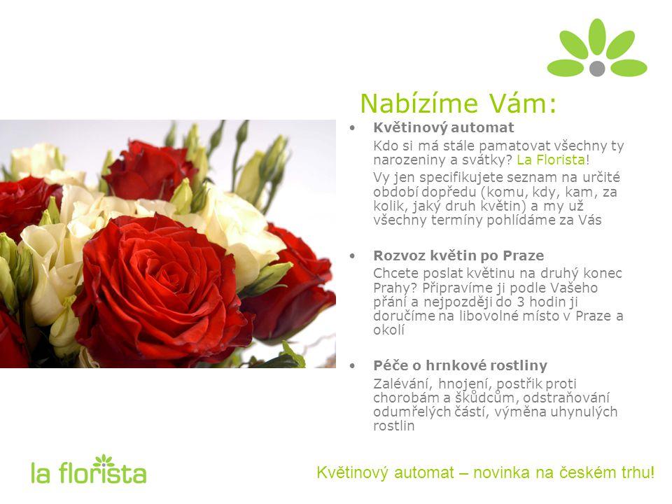 Nabízíme Vám: Květinový automat – novinka na českém trhu!