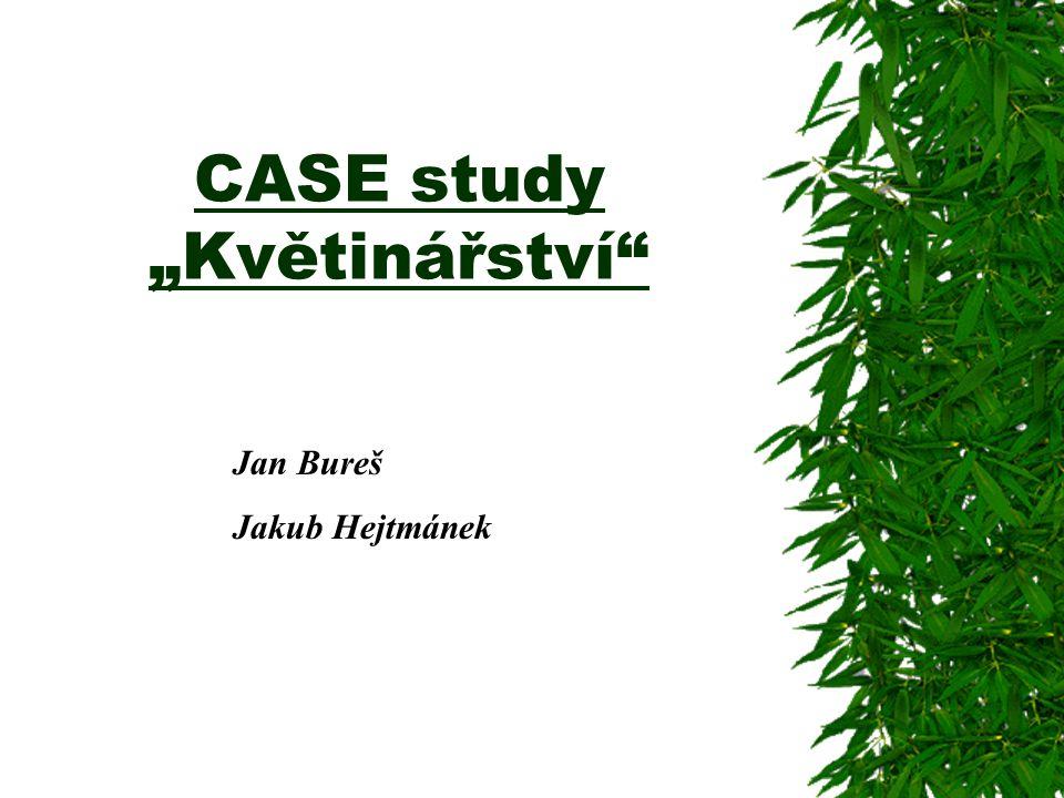 """CASE study """"Květinářství"""
