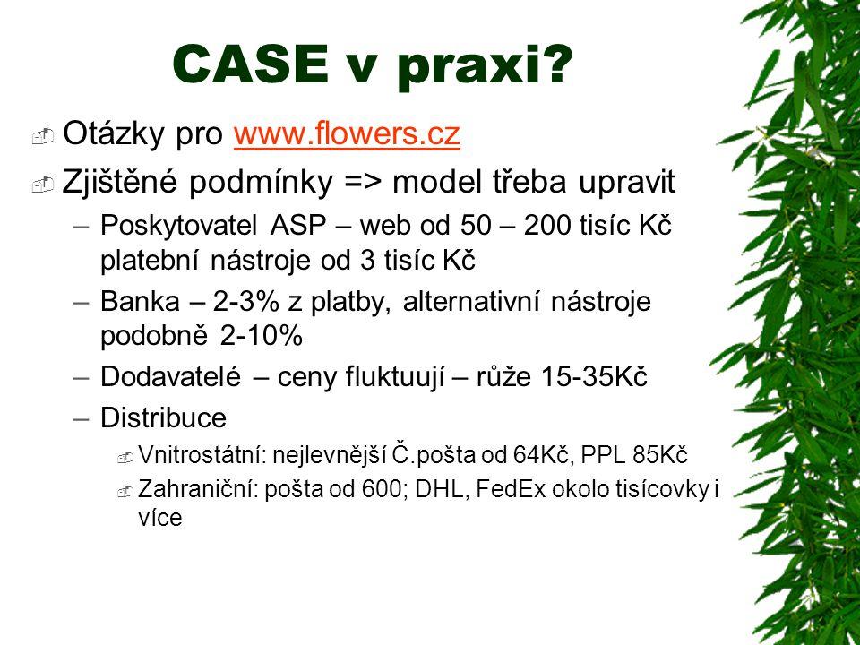 CASE v praxi Otázky pro www.flowers.cz
