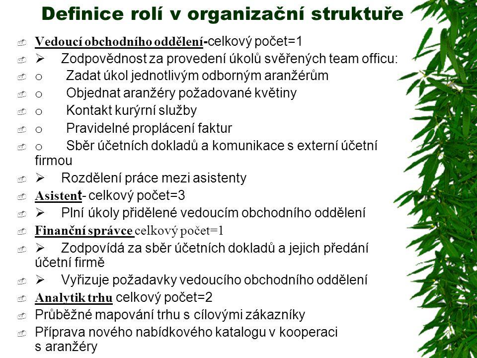 Definice rolí v organizační struktuře