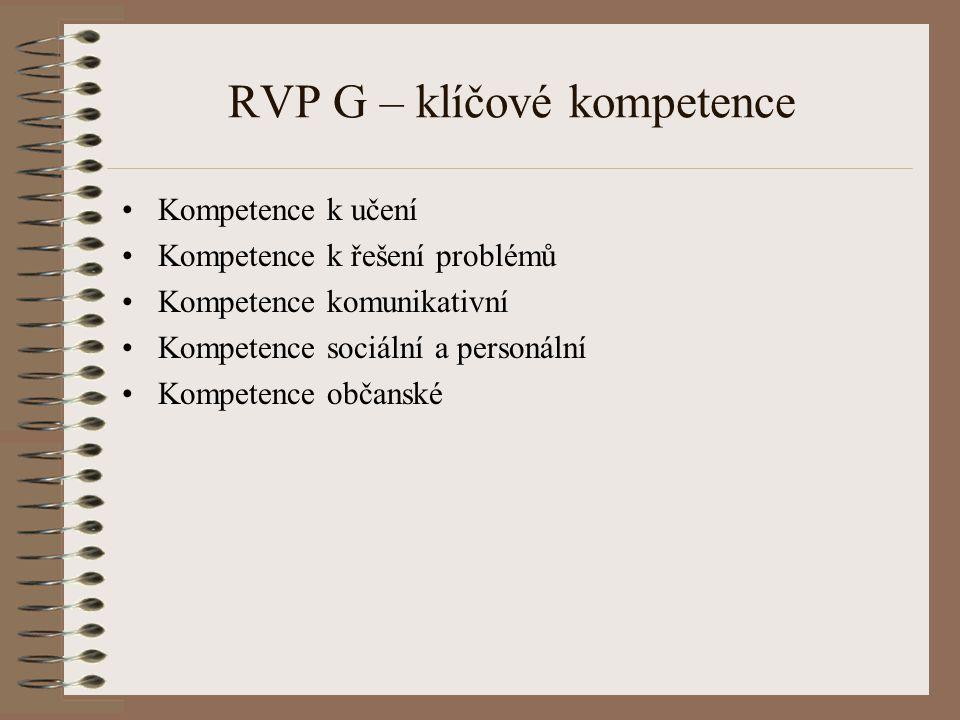 RVP G – klíčové kompetence