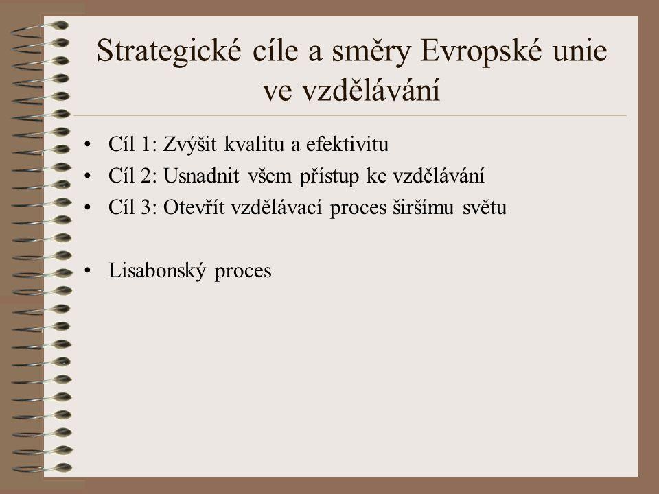 Strategické cíle a směry Evropské unie ve vzdělávání