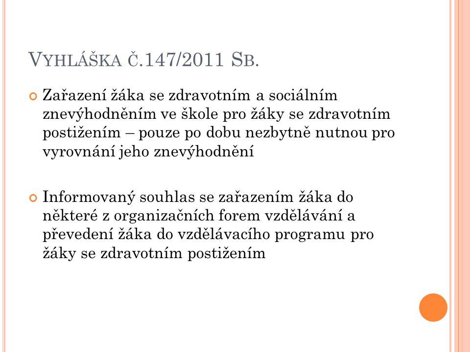Vyhláška č.147/2011 Sb.