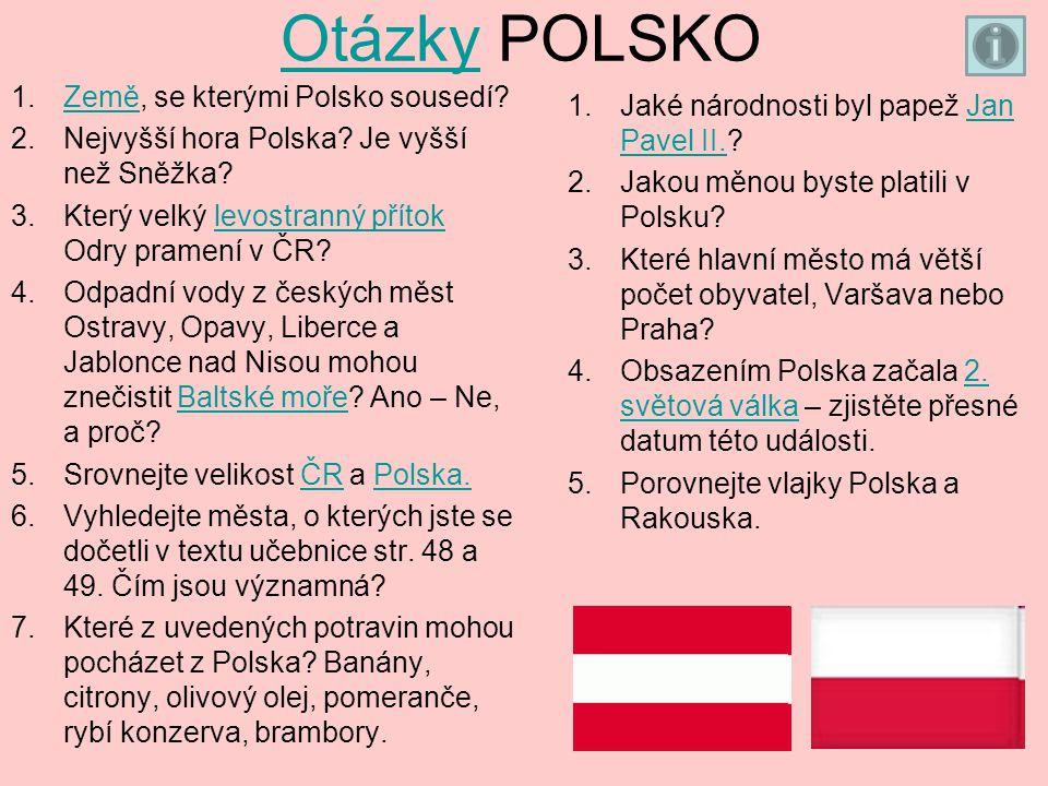 Otázky POLSKO Země, se kterými Polsko sousedí