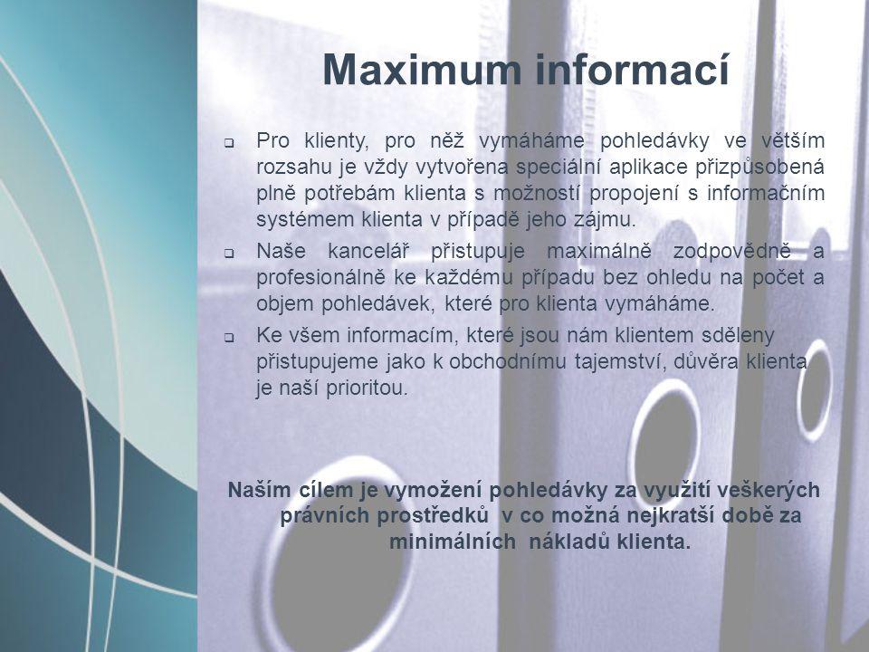 Maximum informací