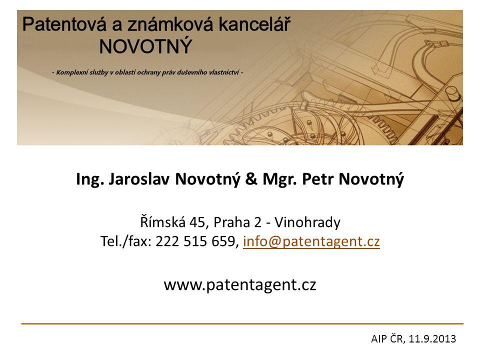 Ing. Jaroslav Novotný & Mgr