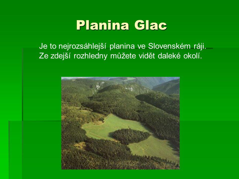 Planina Glac Je to nejrozsáhlejší planina ve Slovenském ráji.