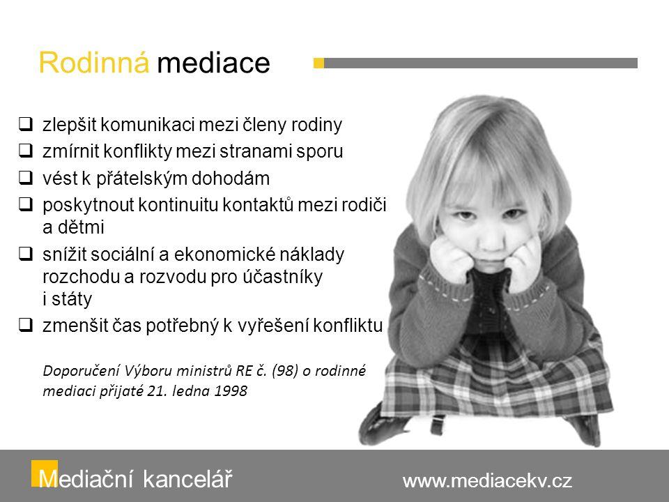 Rodinná mediace Mediační kancelář www.mediacekv.cz