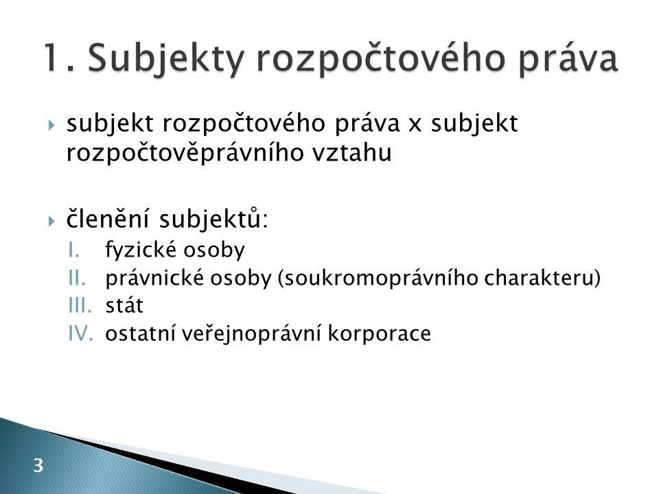 1. Subjekty rozpočtového práva