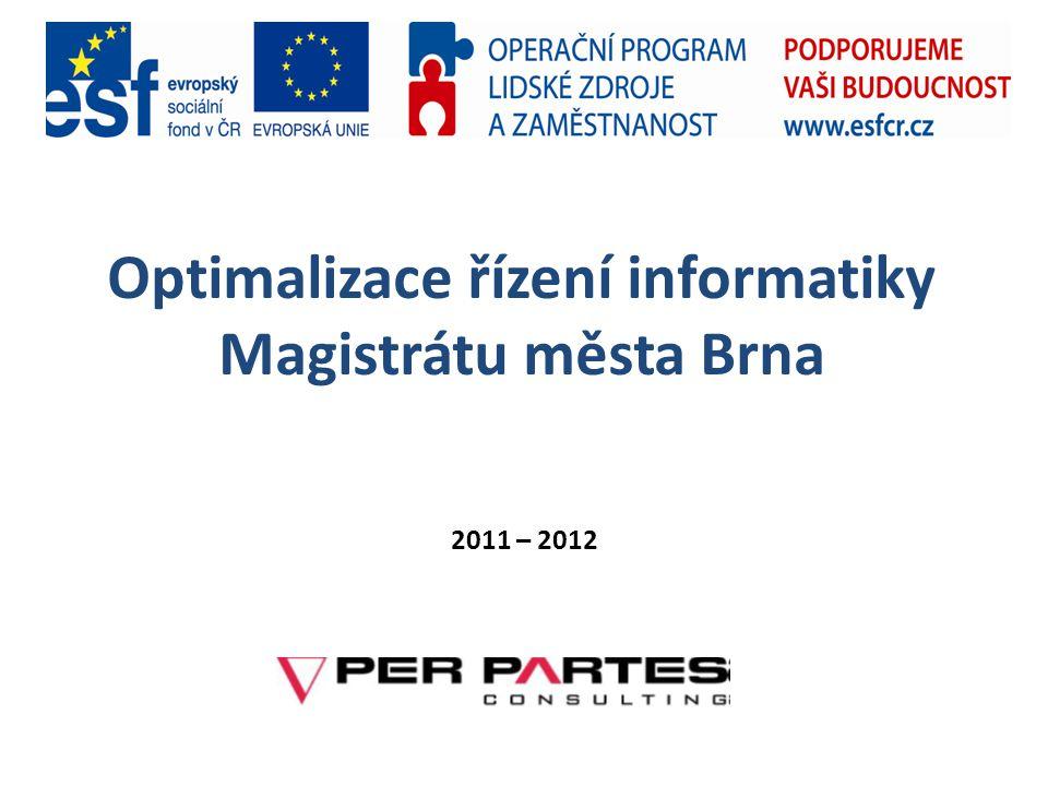 Optimalizace řízení informatiky Magistrátu města Brna