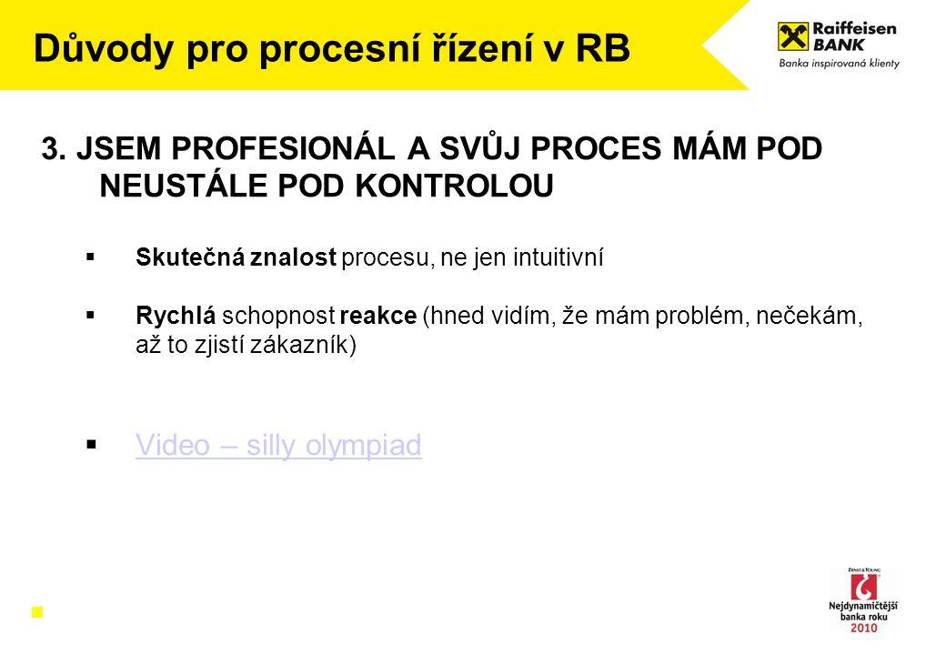Důvody pro procesní řízení v RB