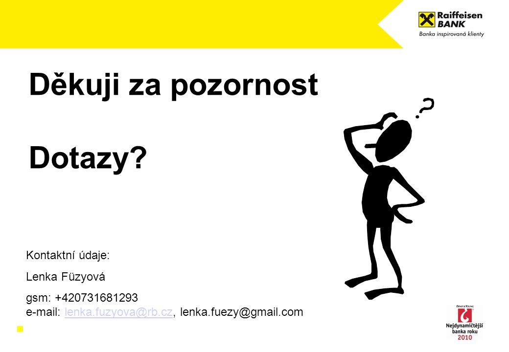 Děkuji za pozornost Dotazy Kontaktní údaje: Lenka Füzyová