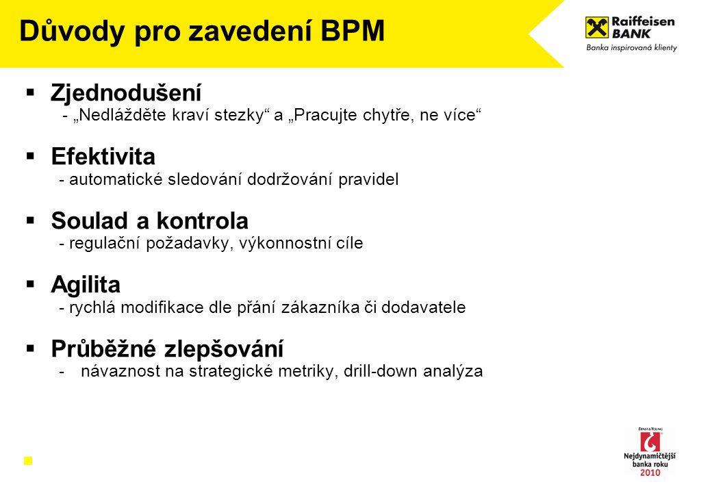 Důvody pro zavedení BPM
