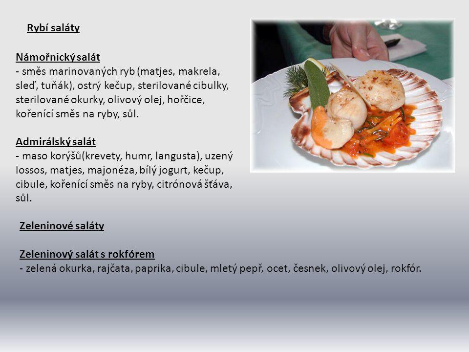 Rybí saláty Námořnický salát.