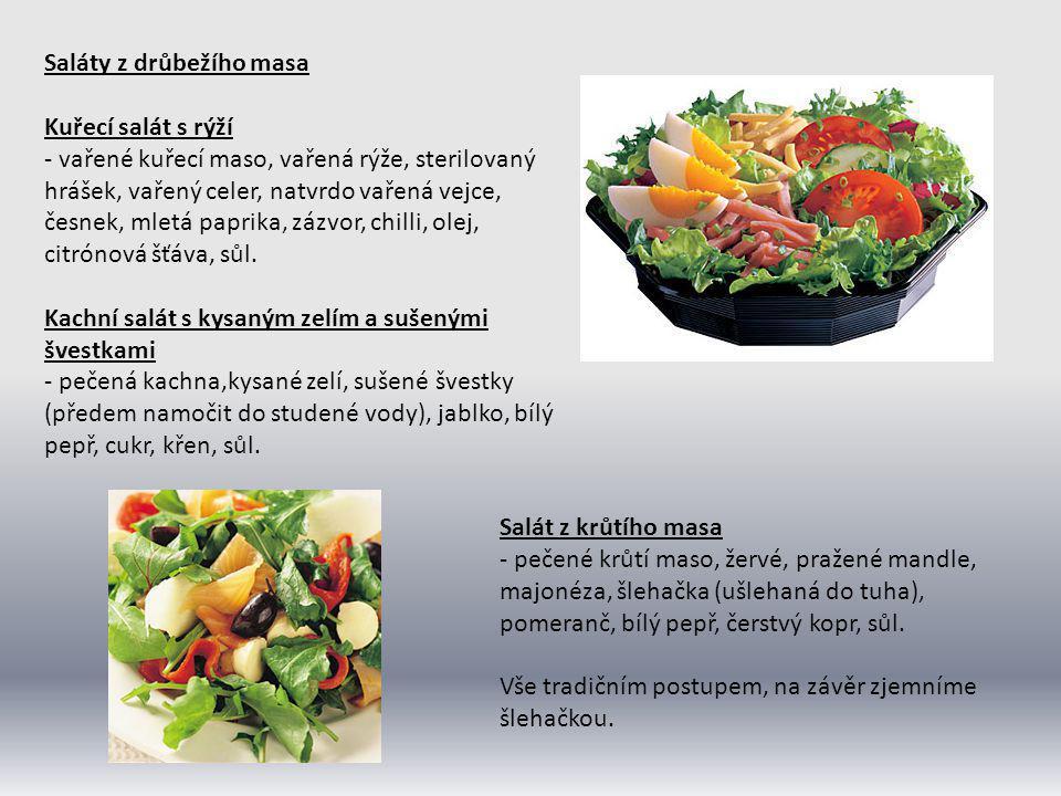 Saláty z drůbežího masa