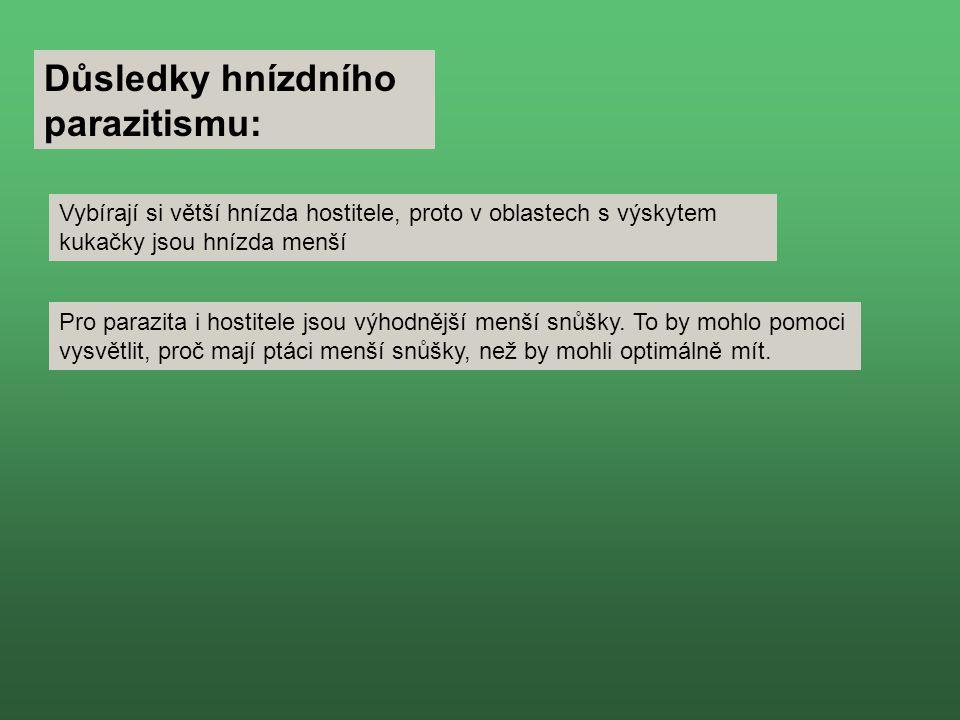 Důsledky hnízdního parazitismu: