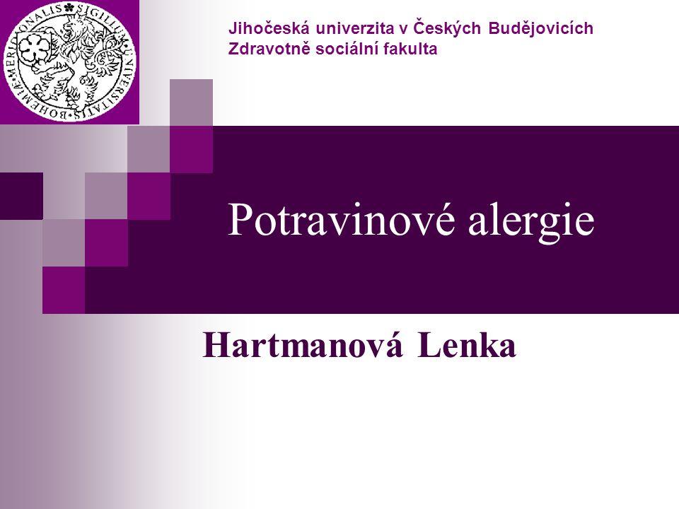 Potravinové alergie Hartmanová Lenka