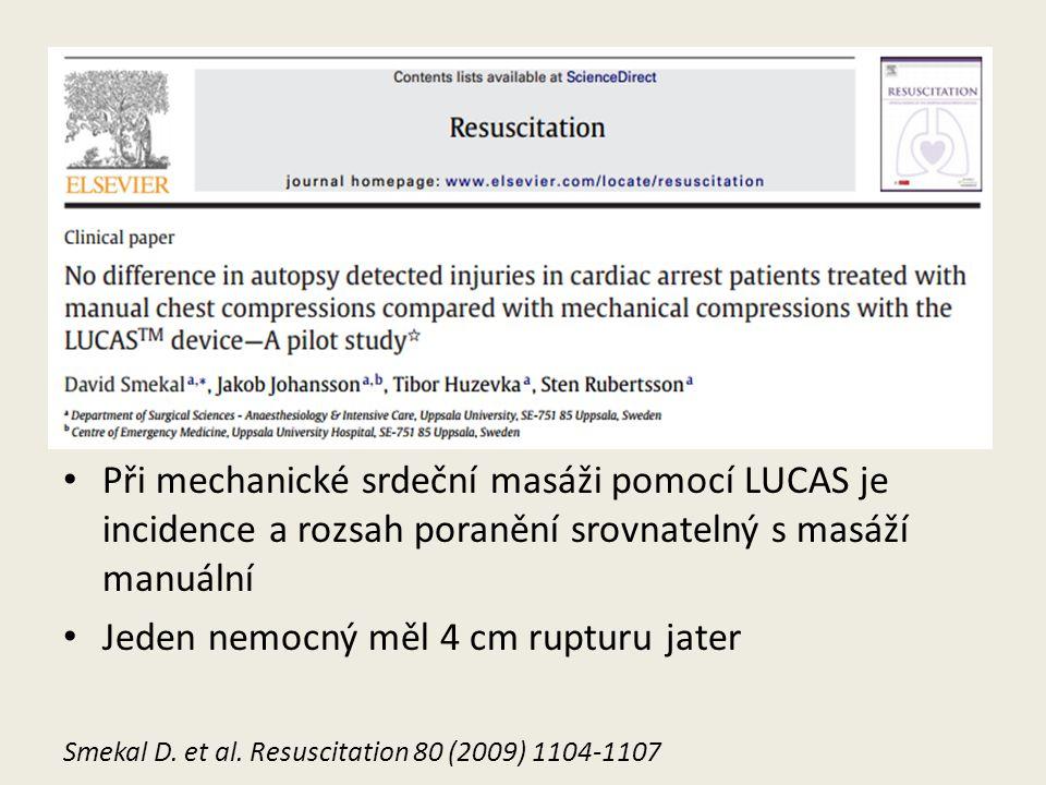 LUCAS Při mechanické srdeční masáži pomocí LUCAS je incidence a rozsah poranění srovnatelný s masáží manuální.