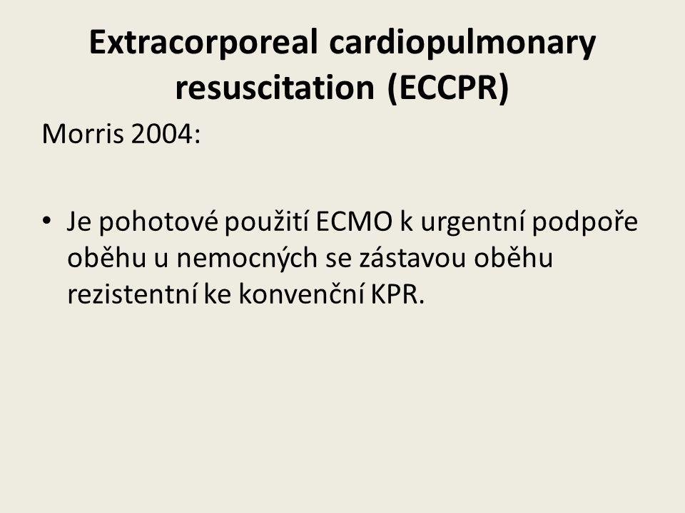 Extracorporeal cardiopulmonary resuscitation (ECCPR)