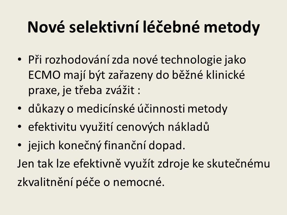 Nové selektivní léčebné metody