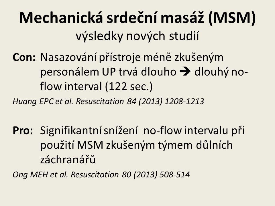 Mechanická srdeční masáž (MSM) výsledky nových studií
