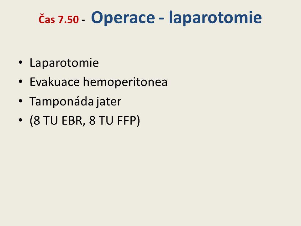 Čas 7.50 - Operace - laparotomie