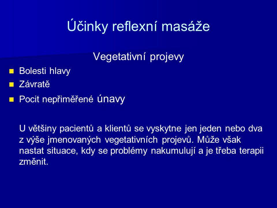 Účinky reflexní masáže